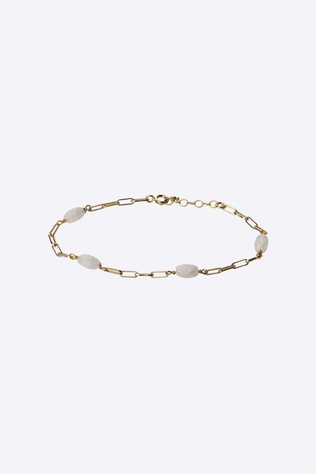 5 Octobre Bracelet ALISHA - Argent doré Or fin & Crystal de Roche