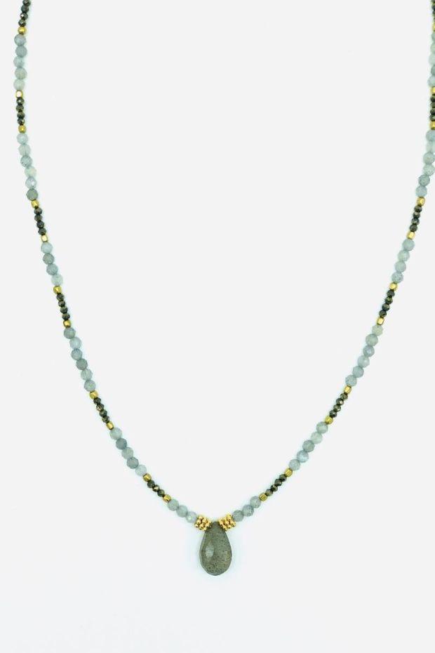 Bohemian Rhapsodie CollierBracelet MARNIE Labradorite & Pyrite