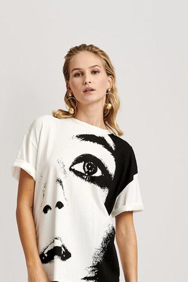 Essentiel Antwerp T-shirt Printed VIPERE - Off White