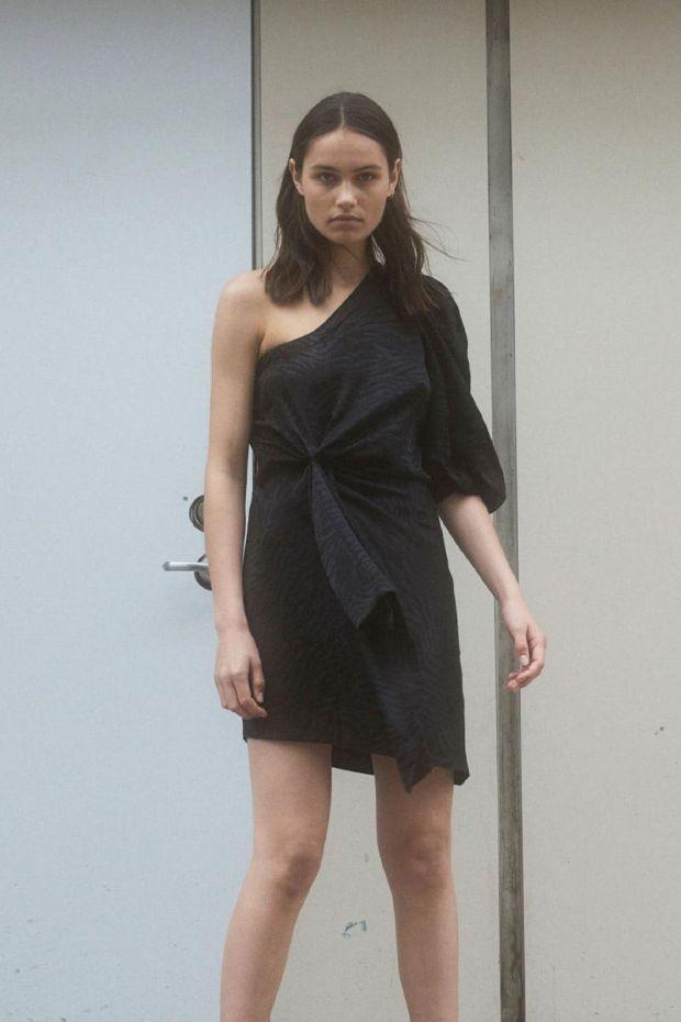 Designers Remix Ruby One-Shoulder Dress - Black
