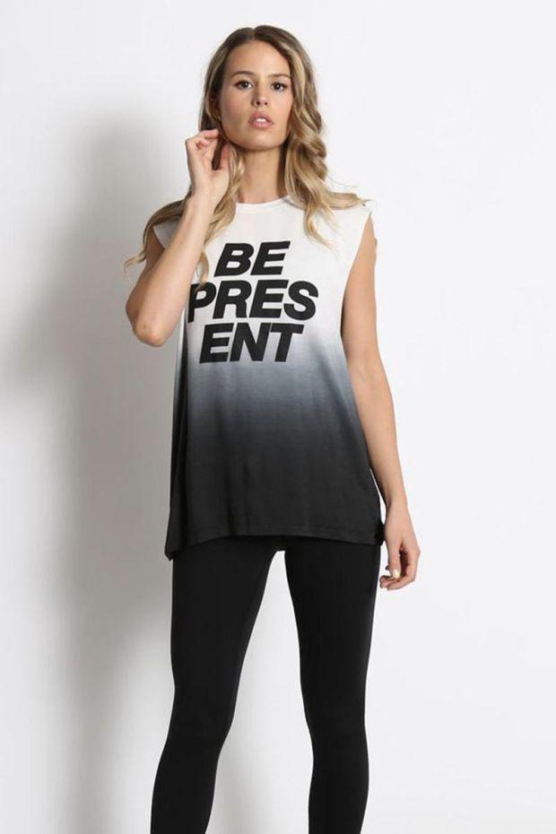 good hYOUman. Tee - Shirt Aguilera - Be Present V2 - Black Ombre