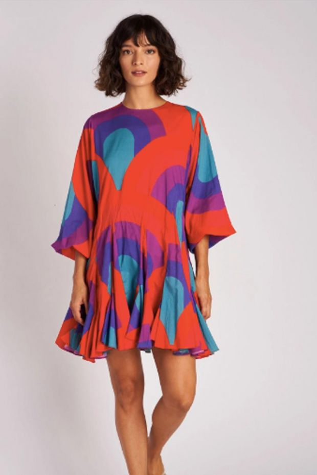 RHODE Ella Dress - Retro Rainbow