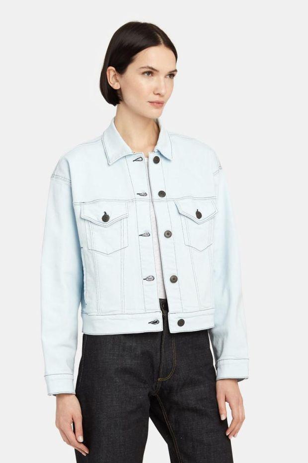 3x1 Denim Oversized Classic Crop Jacket - Adelia