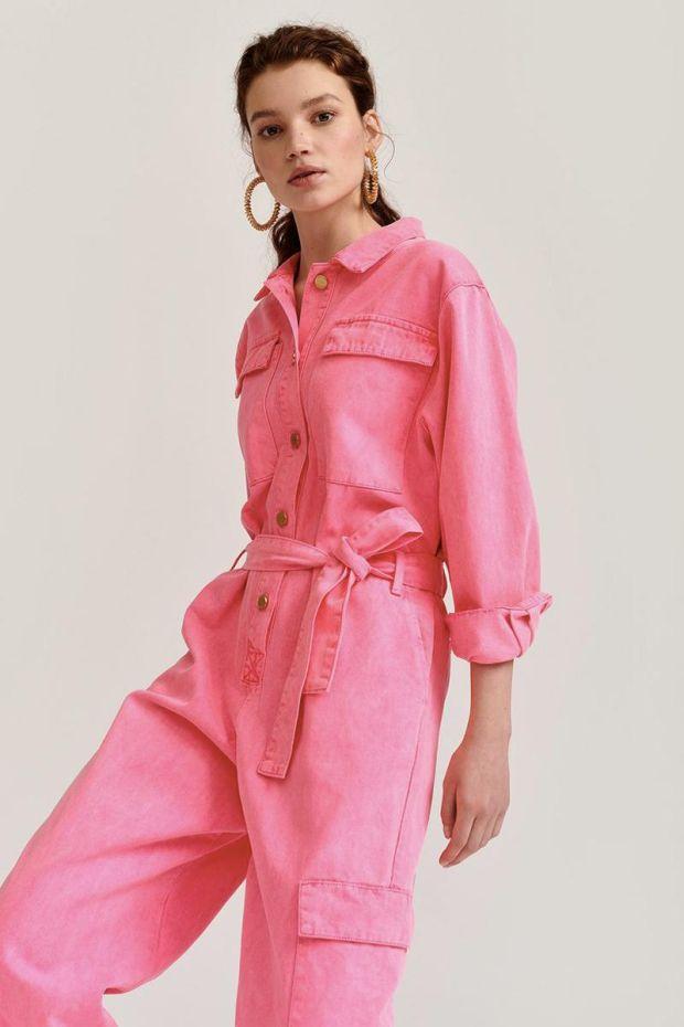 Essentiel Antwerp Combinaison VADID Colour Denim - Hardcore Pink