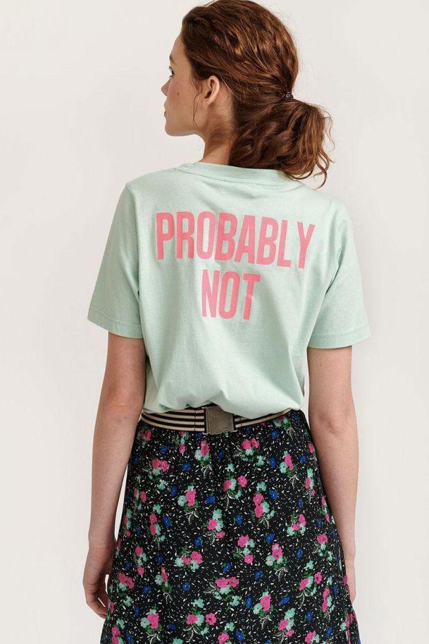 Essentiel Antwerp T-Shirt VRONT Message Printed - Cashmere Blue