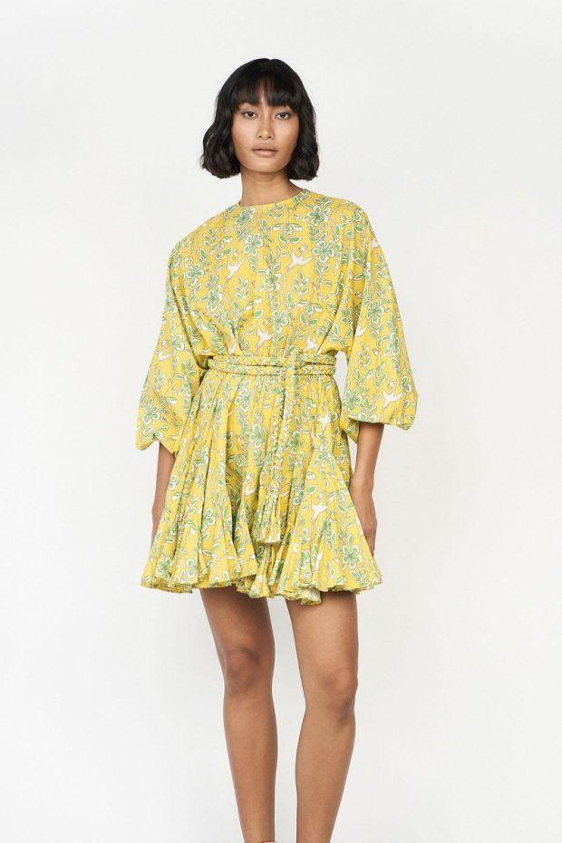 RHODE ELLA Dress - Yellow Eden
