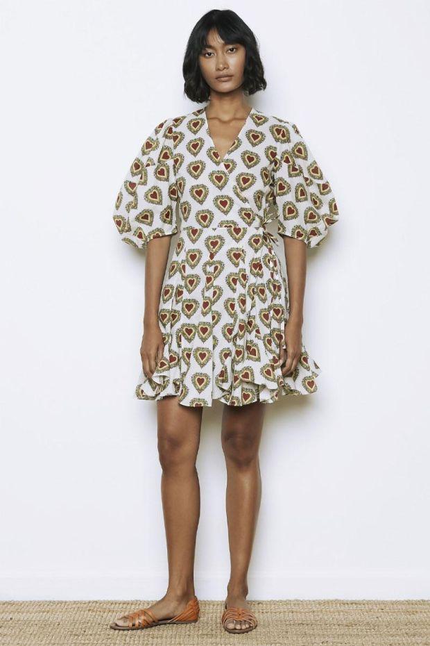 RHODE ROSIE Dress - Small Ivory Heart