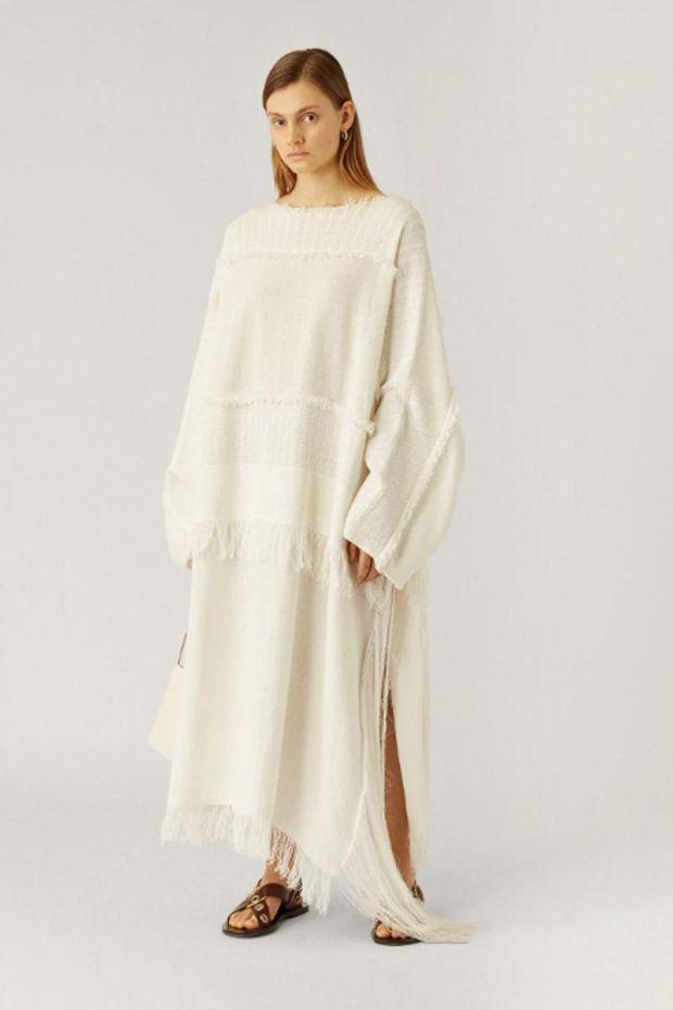 Joseph Robe KAFTAN Crispy Cotton - White