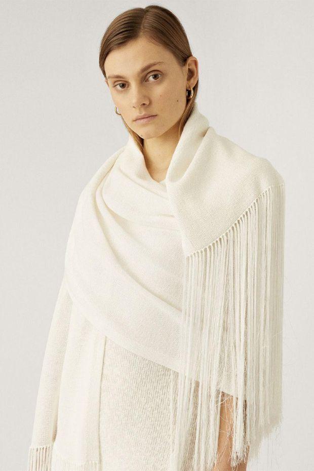Joseph Echarpe Crispy Cotton - White