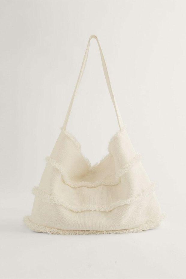 Joseph Sac SHOPPER Crispy Cotton - White