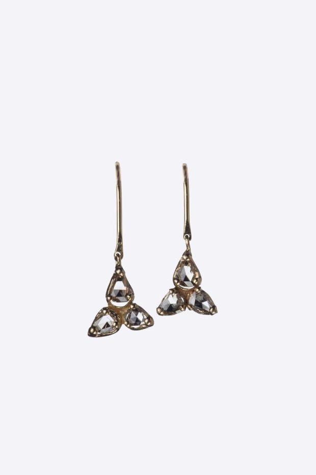 5 Octobre Boucles d'Oreilles FREDDIE Or 14k - Diamants