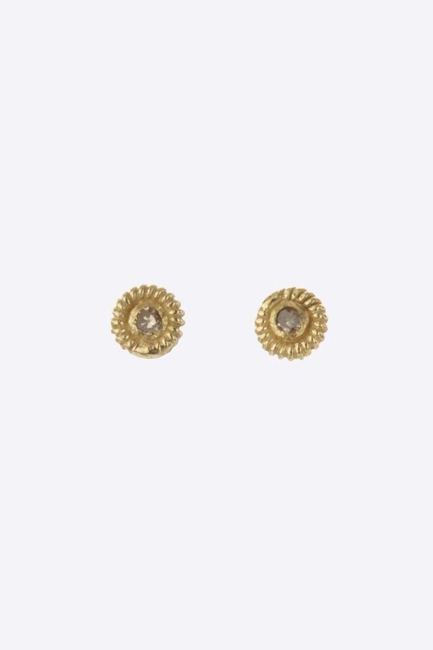 5 Octobre Boucles d'Oreilles SUN Or 14k - Diamants