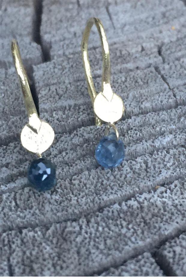 5 Octobre Boucles d'Oreilles EREN Or 14k - Saphirs Bleus