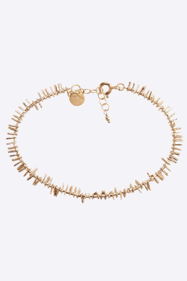 5 Octobre Bracelet BOY - Argent doré or fin
