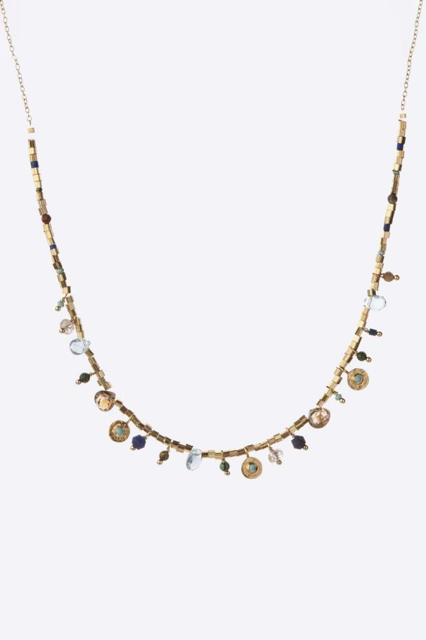 5 Octobre Collier ASIA Turquoise - Argent doré or fin