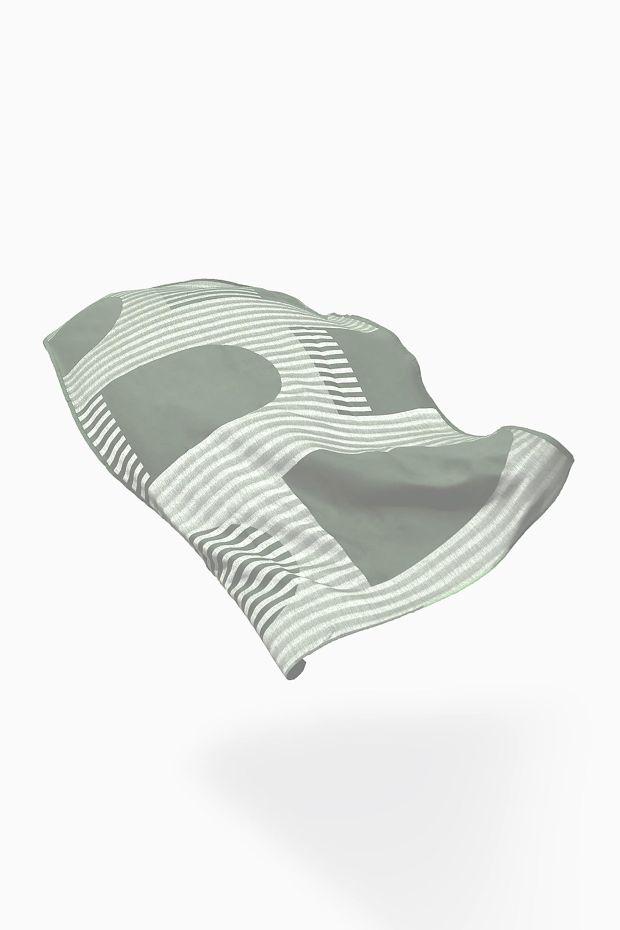 SCMP DESIGN OFFICE Marlo & Isaure  Fouta DAR 1 Towel - Verte
