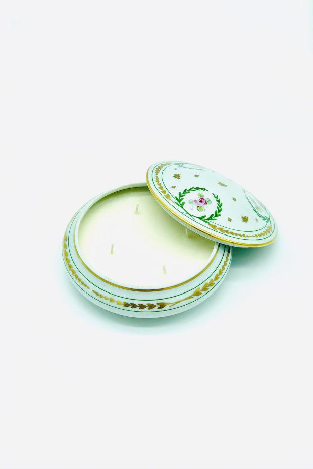 YMA Bougie Porcelaine Michelet - Fleur de Coton