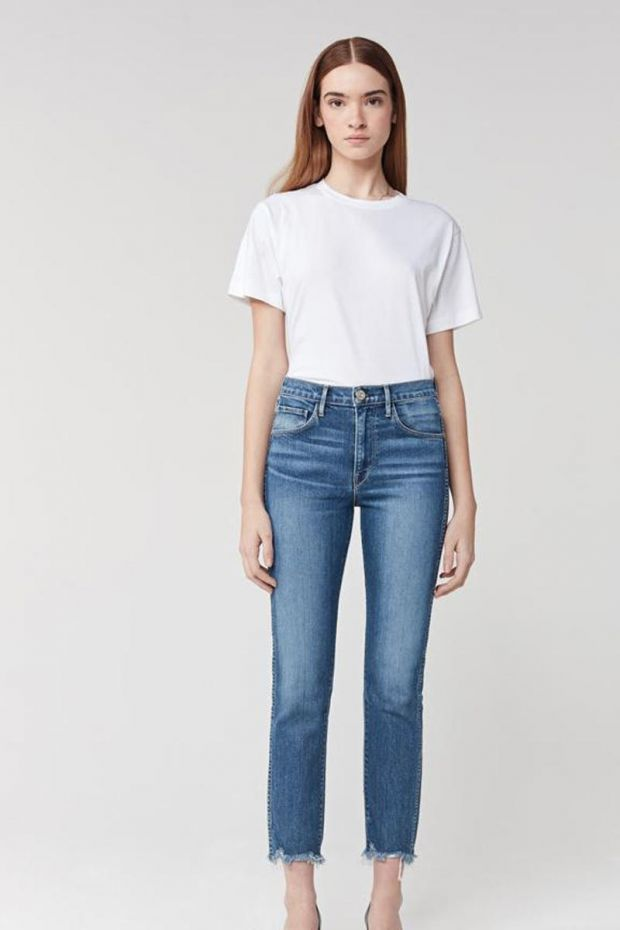 3x1 Denim W3 Straight Authentic Crop - Ace