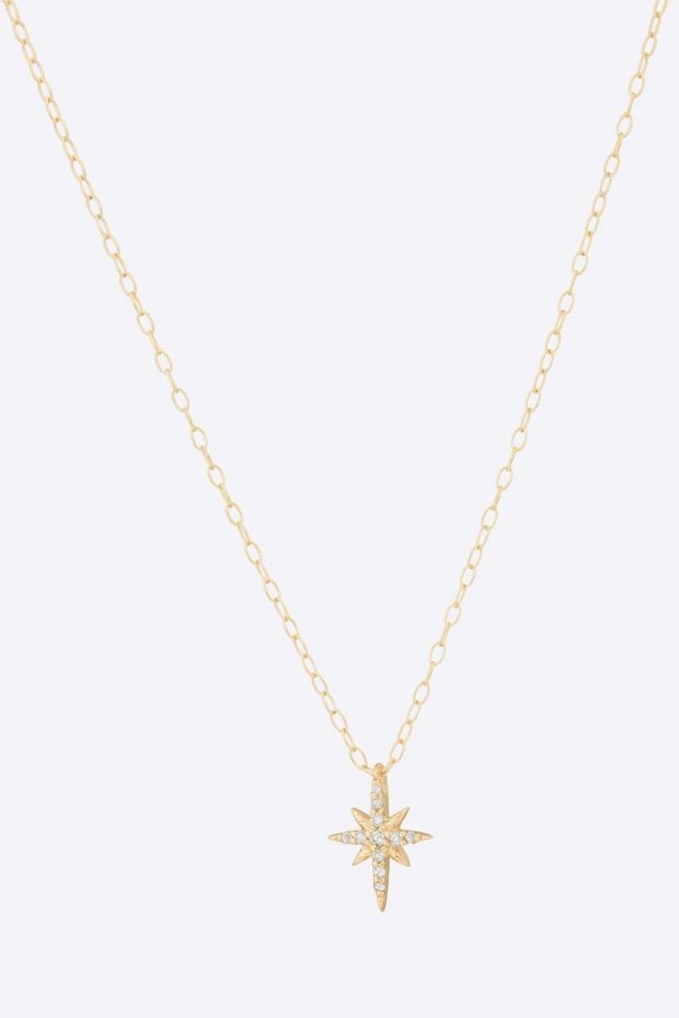 CELINE DAOUST Collier North Star & Diamonds - Or jaune