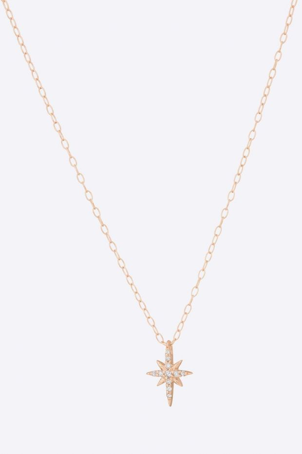 CELINE DAOUST Collier North Star & Diamonds - Or Rose