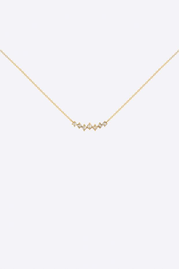CELINE DAOUST Collier 7 Round Rosecut Diamonds gradation - Or Jaune