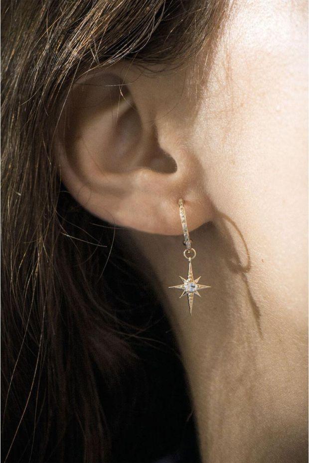 CELINE DAOUST Créole Etoile Saphir blanc & Diamants - L' Unité