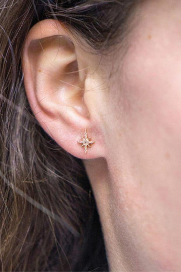 CELINE DAOUST Boucles d'Oreilles North Star Or Jaune & Diamants - L'Unité