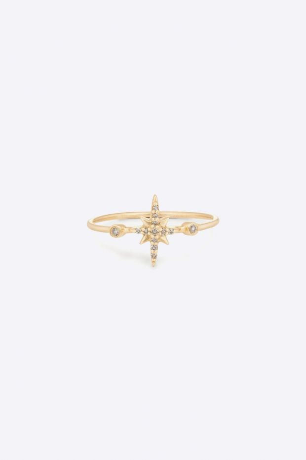 CELINE DAOUST Bague North Star & Diamonds - Or Jaune