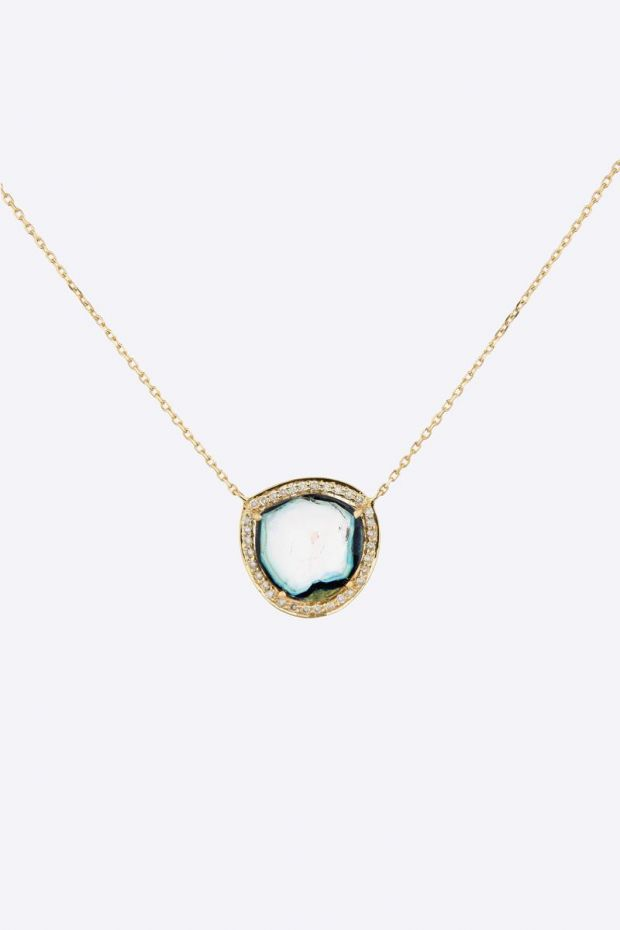 CELINE DAOUST Collier Tourmaline Stella & Diamonds
