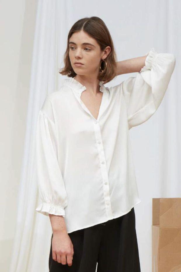 Designers Remix Elda Ruffle Shirt - Cream