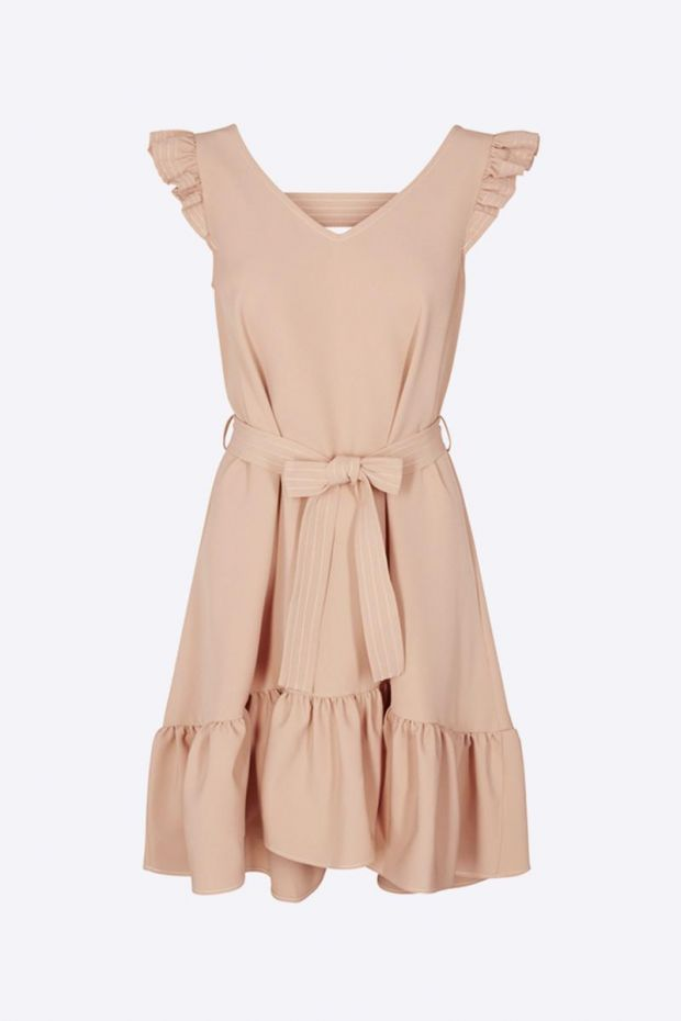 Designers Remix Veronique V-Neck Dress - Caramel