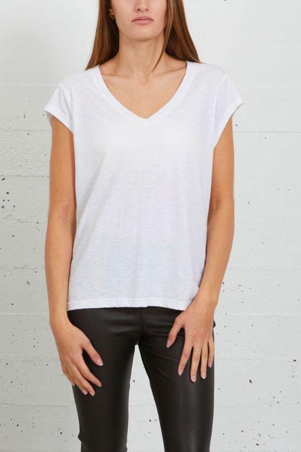 Coster Copenhagen CC Heart Basic V-neck T-Shirt - White
