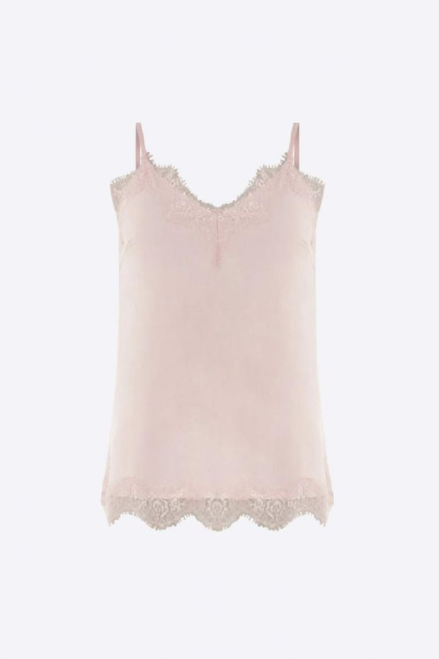 Coster Copenhagen Strap Top w.lace  Powder