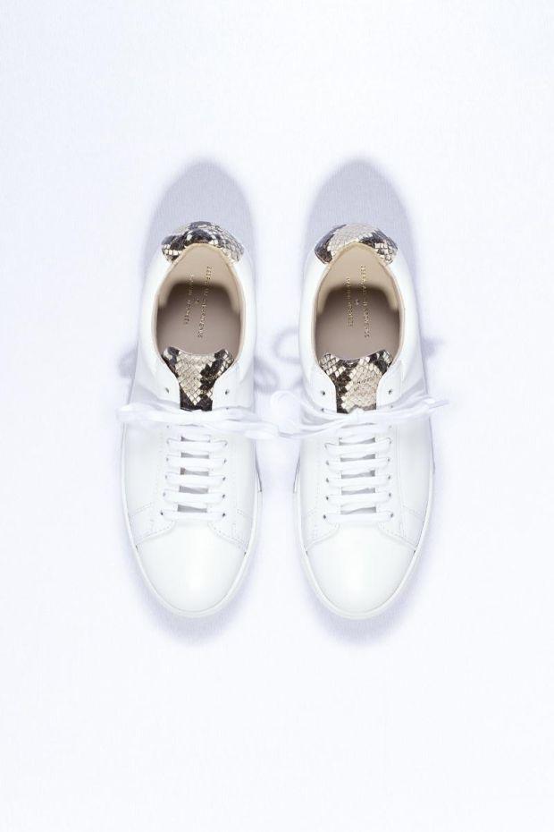 Zespa Sneakers ZSP4 Apla Nappa White  Vipere - Naturel