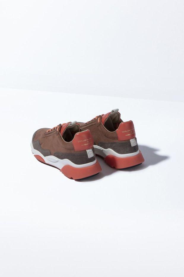 Zespa Sneakers ZSP7 Mix Matiere - Vieux Rose
