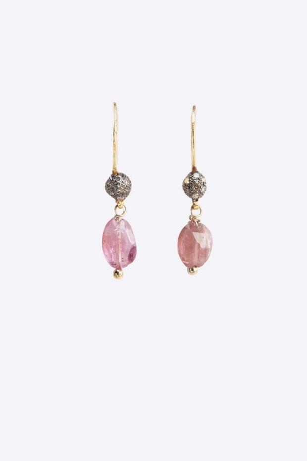 5 Octobre Boucles d'Oreilles AGLAE - Tourmaline Rose