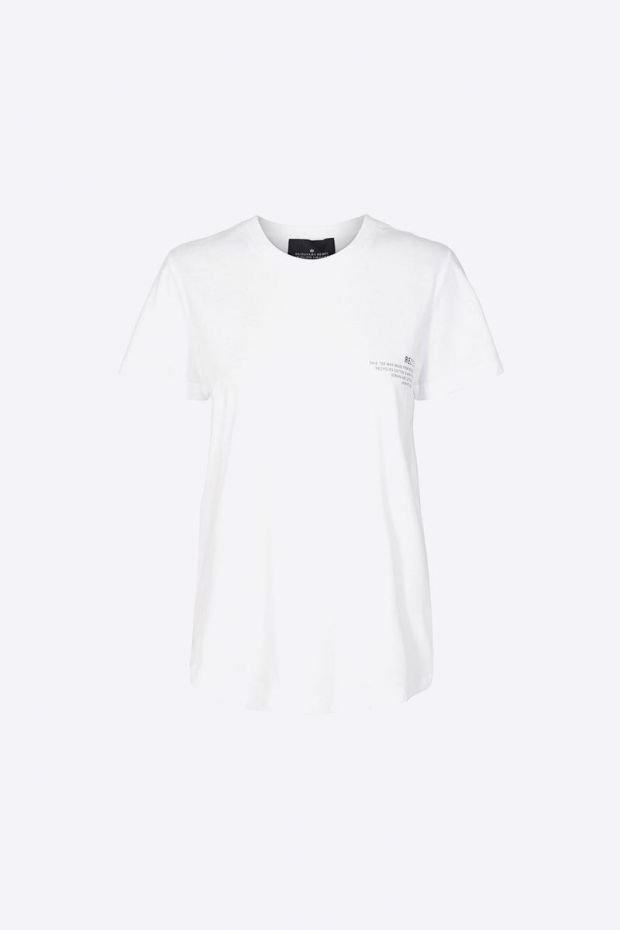 Designers Remix Stanley Text Tee - White