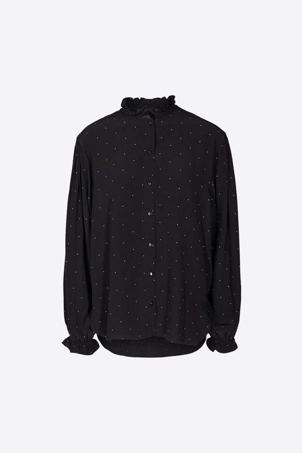 Designers Remix Leana Shirt - Black  Yellow Dot