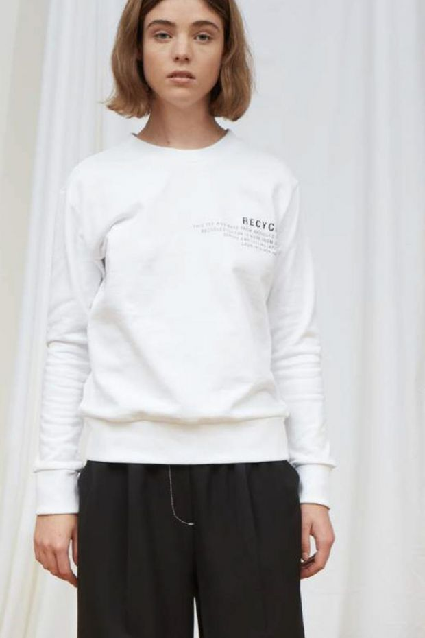 Designers Remix Logan Text Sweat - White