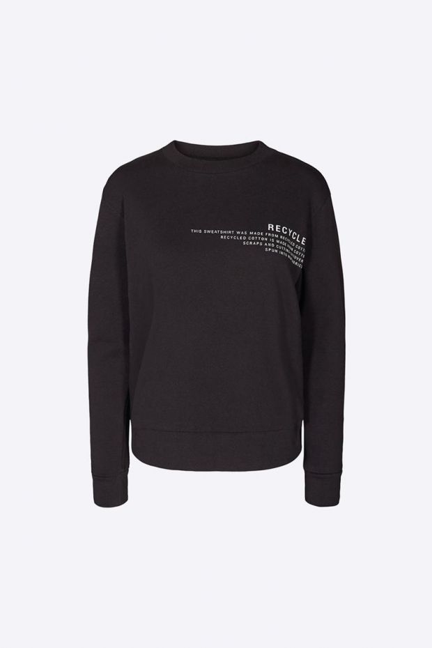 Designers Remix Logan Text Sweat - Black
