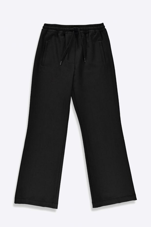 Essentiel Antwerp Thunderdome Wide track Pants - Black