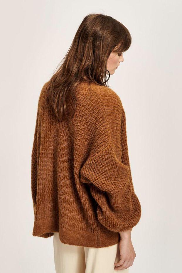 Essentiel Antwerp Try super soft Cardigan - Golden Brown