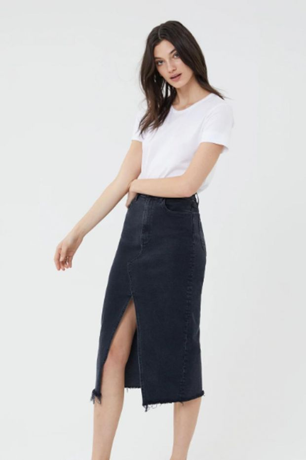 3x1 Denim Elizabella Skirt - Starling