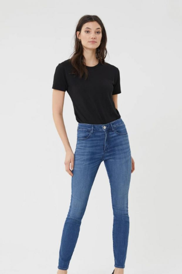 3x1 Denim High Rise Channel Seam Skinny - Annora