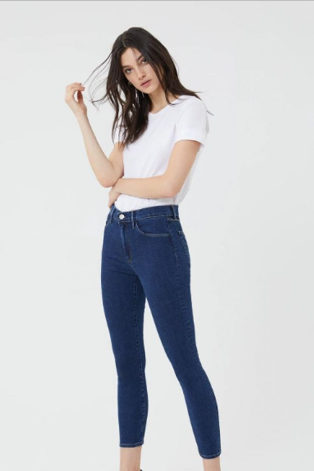 3x1 Denim High Rise Skinny Crop - Clio