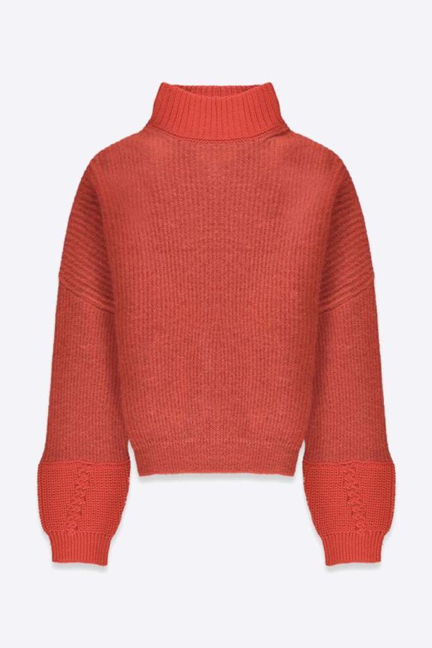 Essentiel Antwerp Trace Bi Materiel Sweater - Tandoori