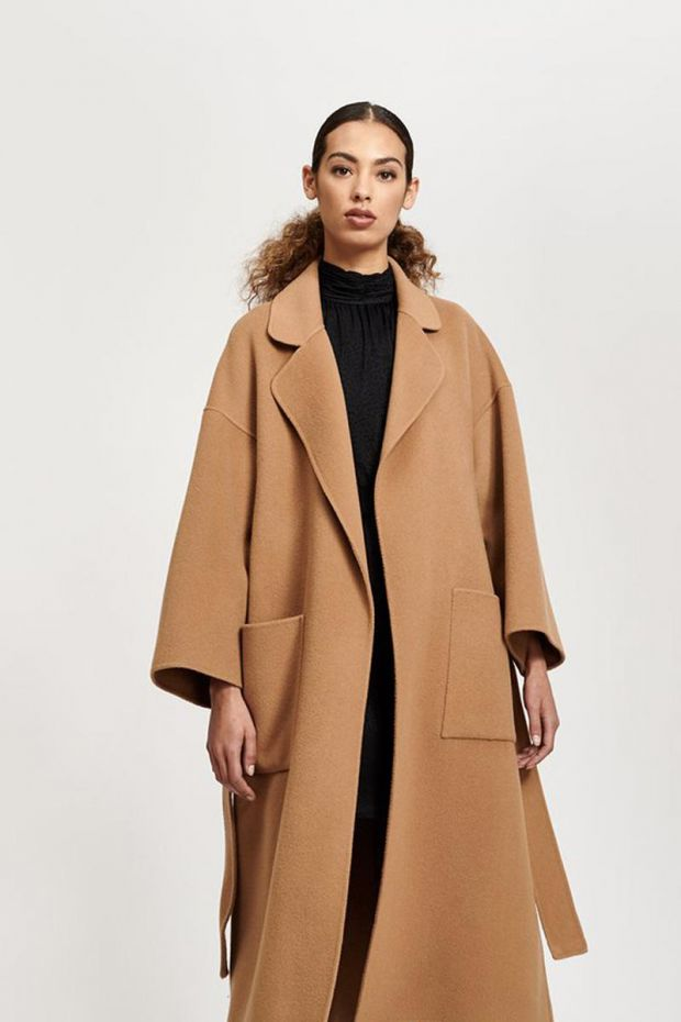 Essentiel Antwerp Truffles Double face Coat - Golden Brown