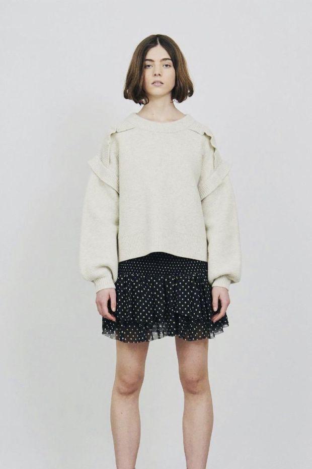Designers Remix Trunte Skirt - Black  Beige Square