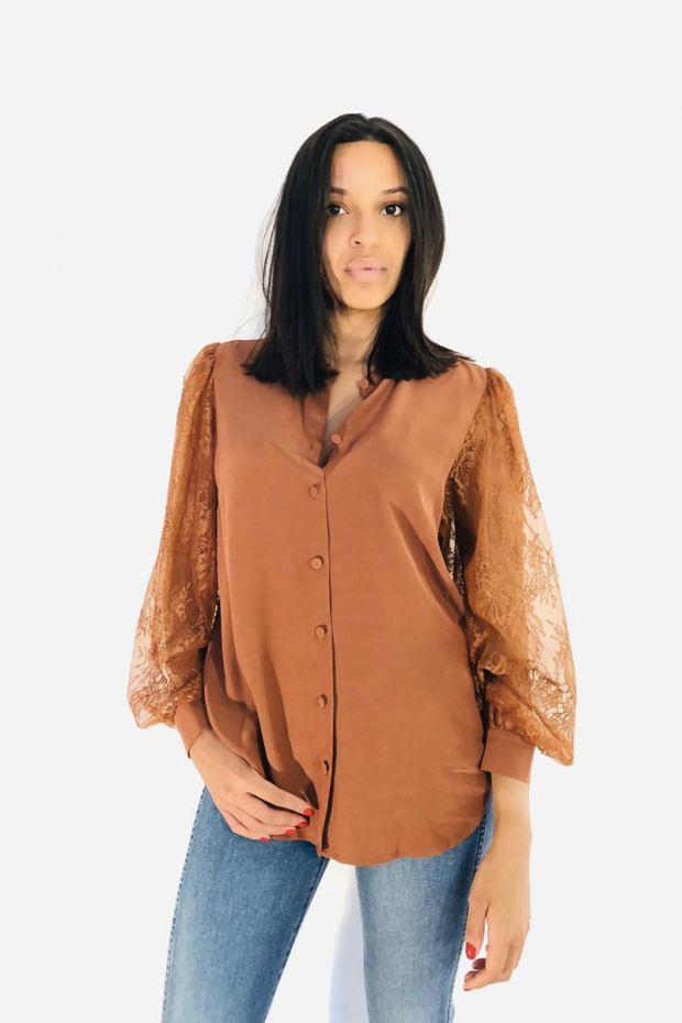 Designers Remix Melissa Mix Shirt - Mahogany