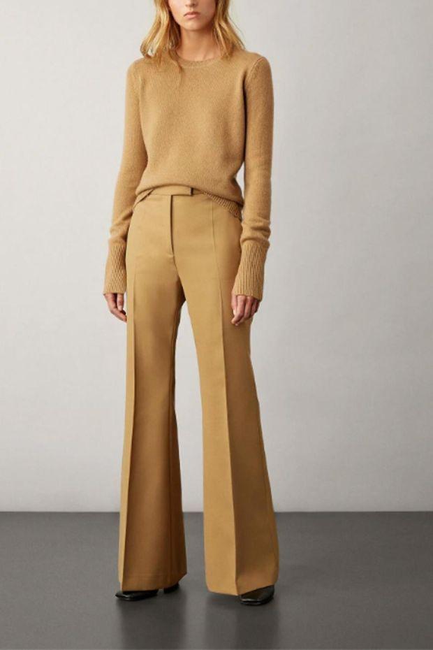 Joseph Pantalon Wool Granite SLOANE - Camel